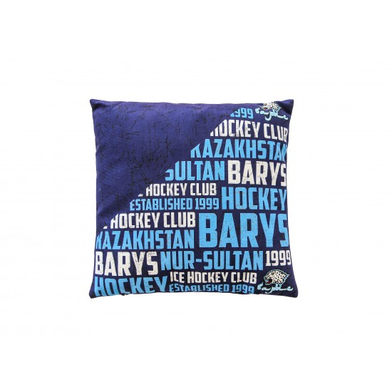 Подушка сувенирная (3 дизайна), с бело-голубой надписью